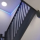 LED tape installation in a stair case