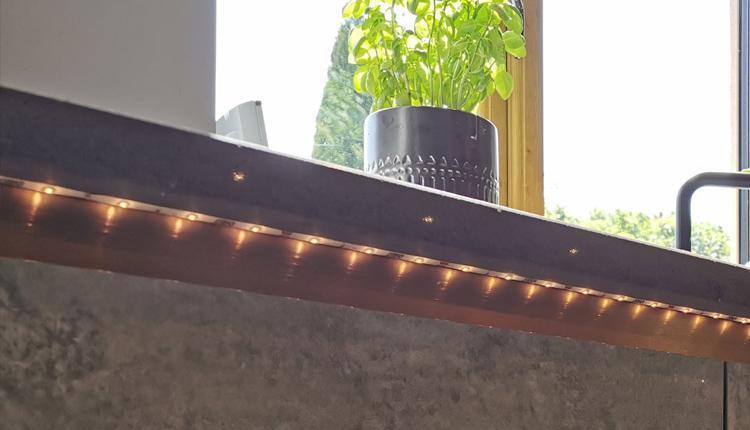 Regular LED tape installation